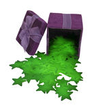 Gift Box of Glowing Stars Royalty Free Stock Image