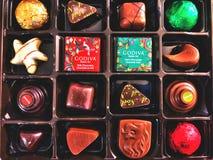 A gift box of Godiva chocolates royalty free stock photos