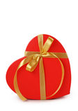 Gift box and golden ribbon Stock Photography
