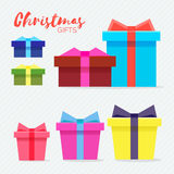 Gift box with golden ribbon and bow. Royalty Free Stock Photo
