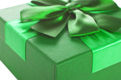 Gift Box of green color Royalty Free Stock Image