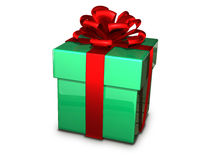 Gift box green Royalty Free Stock Photography