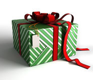 Gift box in green wrapping Stock Photos