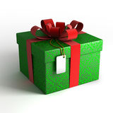 Gift box in green wrapping Stock Photography