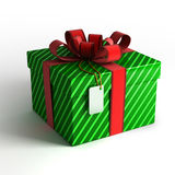 Gift box in green wrapping Stock Image
