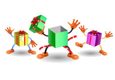 Gift box group Royalty Free Stock Images