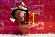 Gift box in hand. Royalty Free Stock Photo