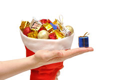 Gift box in hand Royalty Free Stock Image
