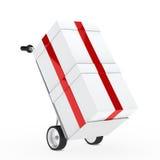 Gift box hand truck Stock Image