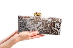 Gift box in the hands Royalty Free Stock Photo