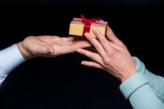 Gift box in hands Royalty Free Stock Photo