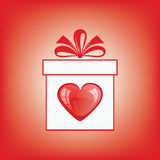 Gift box with a heart. Stock Images