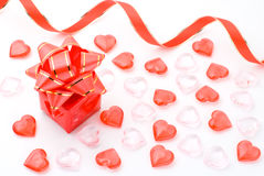 Gift box with heart Stock Image