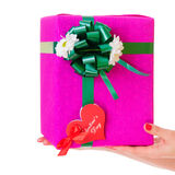 Gift box with heart Royalty Free Stock Photo