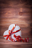 Gift box heart Royalty Free Stock Photo
