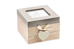 Gift box with a heart Royalty Free Stock Photography