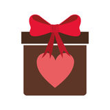 Gift box with heart icon Royalty Free Stock Image