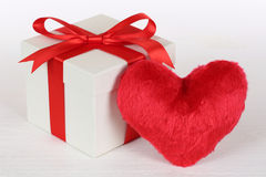 Gift box and heart love topic for Valentine's or mother's day gi Stock Photo