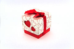 Gift in a box with a heart for March 8. 2015 Stock Photography
