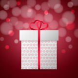 Gift box with heart Royalty Free Stock Images