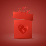 Gift box with heart Stock Photo