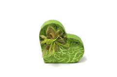 Gift box in heart shape Stock Photography
