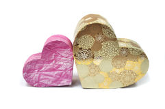 Gift box in heart shape Stock Image