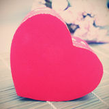 Gift box with heart shape Royalty Free Stock Image