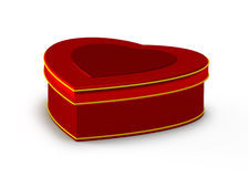 Gift box in heart shape, jewelry box Royalty Free Stock Photography