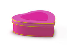 Gift box in heart shape, jewelry box Royalty Free Stock Image