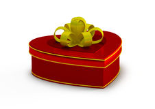 Gift box in heart shape, jewelry box Royalty Free Stock Photos