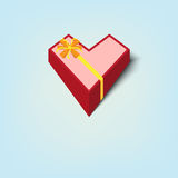 Gift box heart shape Royalty Free Stock Images