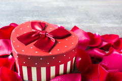 Gift box with heart shape Stock Image