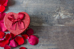 Gift box with heart shape Stock Photography