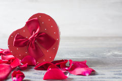 Gift box with heart shape Royalty Free Stock Photography