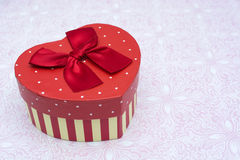 Gift box with heart shape Royalty Free Stock Photos