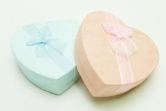 Gift Box - Heart shape with Ribbon Stock Photography