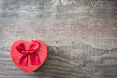 Gift box with heart shape Royalty Free Stock Photo