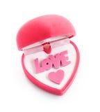 Gift box in heart shape Stock Photo