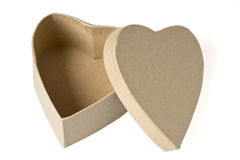 Gift box. Heart shaped gift box . White Valentines day, birthday or celebration background Stock Image