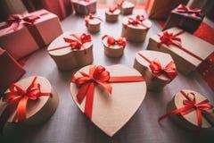 Gift box heart. Royalty Free Stock Photos