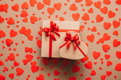 Gift box heart. Stock Image