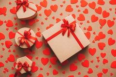 Gift box heart. Stock Photos
