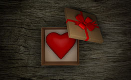 Gift Box with Heart Royalty Free Stock Photography