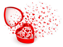 Gift box with hearts Stock Image