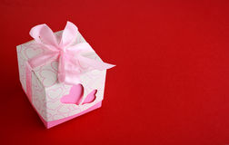 Gift box with hearts Stock Photo