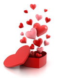 Gift box with hearts. Stock Photo