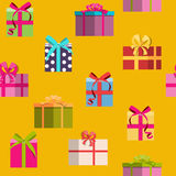 Gift Box Holiday Seamless Pattern Background Stock Photo