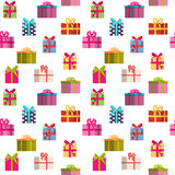 Gift Box Holiday Seamless Pattern Background Stock Image
