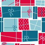 Gift Box Holiday Seamless Pattern Background. Vector Illustration. EPS10 Royalty Free Stock Photos
